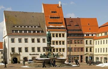 Die historische Altstadt von Freiberg