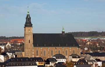 Die historische Altstadt von Schneeberg