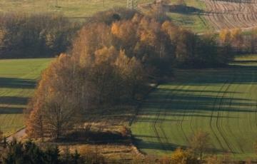 Hornická krajina v okolí žíly Hauptstollengang Stehende