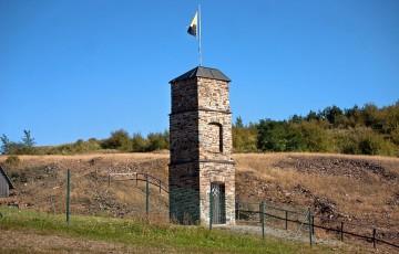 Hlavní svislá šachta na Saubergu